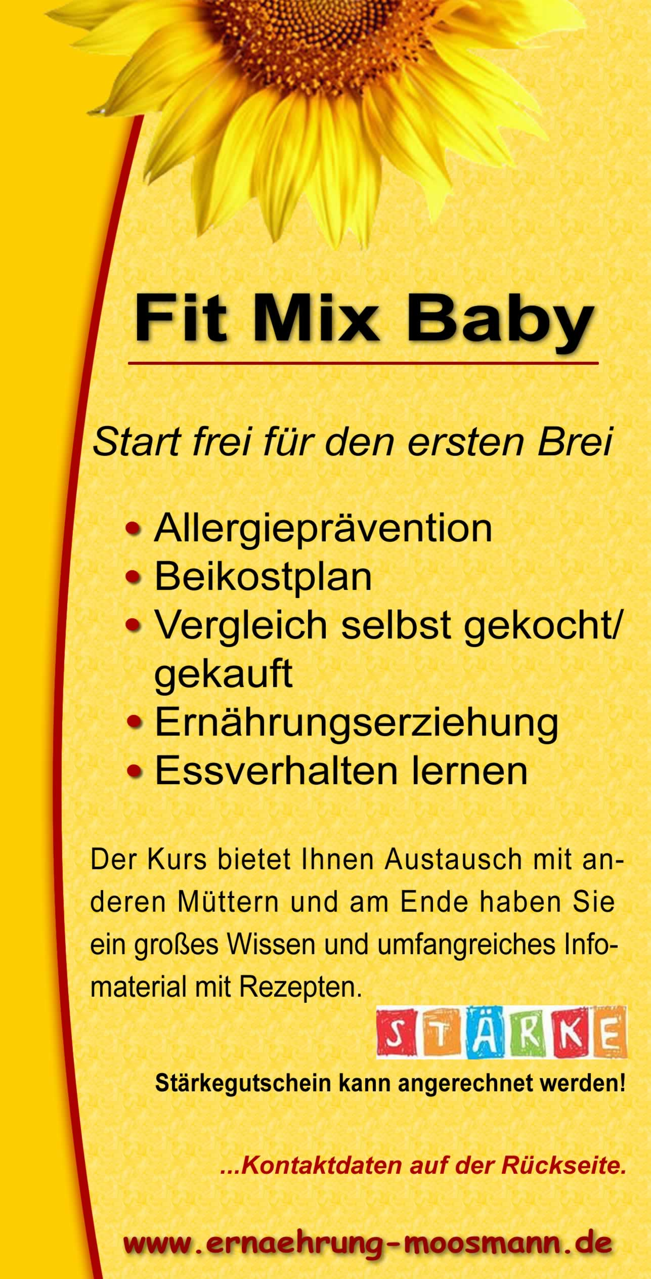 Flyer: Fit Mix Baby